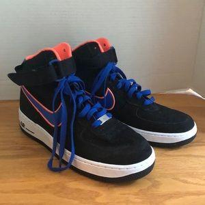 Nike Air Force 1 High '07 Black Blue Orange Size 8